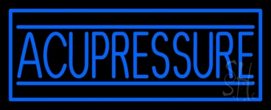 Blue Acupressure Neon Sign