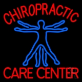 Chiropractic Care Center Human Logo Neon Sign
