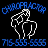 Chiropractor Logo With Number Neon Sign
