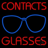 Contact Glasses Neon Sign