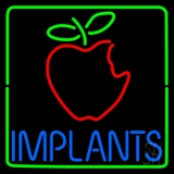Implants With Apple Logo Neon Sign