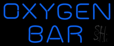 Blue Oxygen Bar Neon Sign