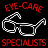 Eye Care Specialist With Glasses Logo Neon Sign