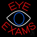 Eye Exams With Eye Logo Neon Sign
