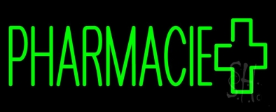 Green Pharmacie Logo Neon Sign