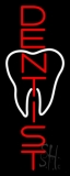 Vertical Dentist Logo Neon Sign