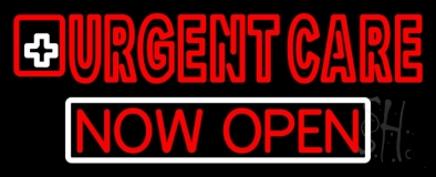 Double Stroke Urgent Care Now Open Neon Sign