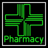 Pharmacy With Plus Logo Neon Sign
