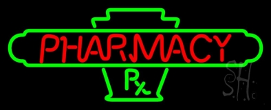 Red Pharmacy Neon Sign