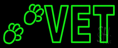 Double Stroke Vet Neon Sign
