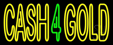 Cash 4 Gold Neon Sign
