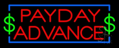 Red Payday Advance Neon Sign