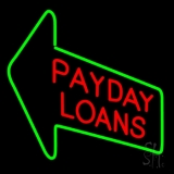 Red Payday Loans With Arrow Neon Sign