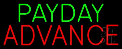 Payday Advance Neon Sign