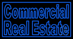 Commercial Real Estate Neon Sign