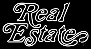Cursive Real Estate Neon Sign