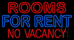 Double Stroke Rooms For Rent Neon Sign