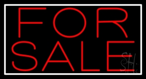 For Sale Neon Sign