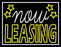Now Leasing Neon Sign