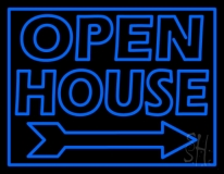 Open House Real Estate Decor Neon Sign