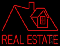 Real Estate Home Logo Neon Sign