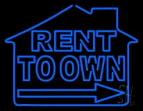 Rent To Own Neon Sign