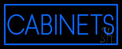 Blue Cabinets Neon Sign