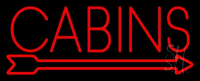 Cabins Neon Sign