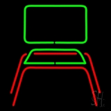 Chair Logo Neon Sign