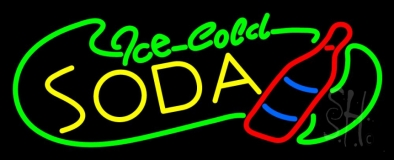 Ice Cold Soda Neon Sign