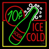 Red Ice Cold Soda Neon Sign