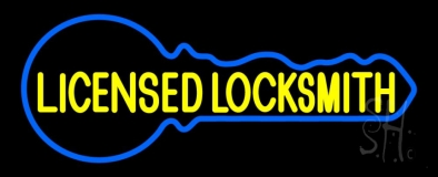 Licensed Locksmith Neon Sign