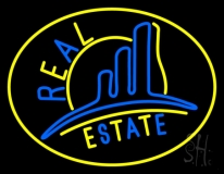 Real Estate With Logo 4 Neon Sign