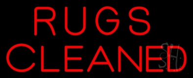 Rugs Cleaned Neon Sign