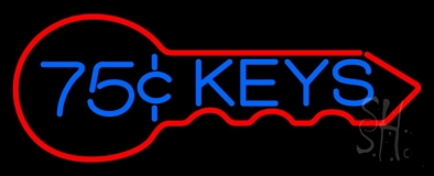 75 Cent Keys Logo 1 Neon Sign