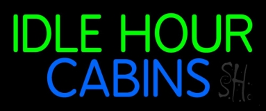 Idle Hour Cabins 2 Neon Sign