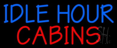 Idle Hour Cabins 3 Neon Sign