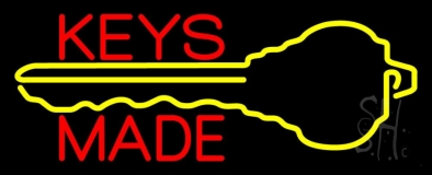 Keys Made With Key Logo 1 Neon Sign