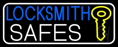 Locksmith Safes Key Logo 3 Neon Sign
