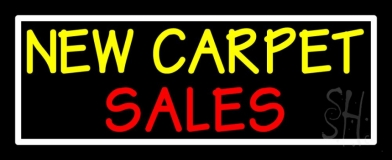 New Carpet Sale 3 Neon Sign