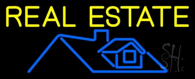 Real Estate Home Logo 1 Neon Sign