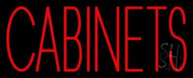 Red Cabinets 3 Neon Sign
