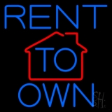 Rent To Own 3 Neon Sign