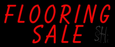 Flooring Sale 1 Neon Sign