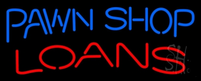 Pawn Shop Loans 1 Neon Sign