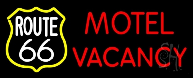 Block Motel Vacancy Neon Sign
