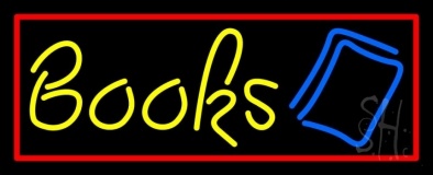 Yellow Books Neon Sign