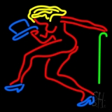 Strip Girl With Hat And Stick Neon Sign