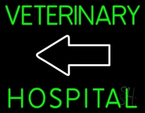 Veterinary Hospital With Arrow 1 Neon Sign