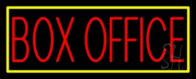 Box Office With Yellow Border Neon Sign
